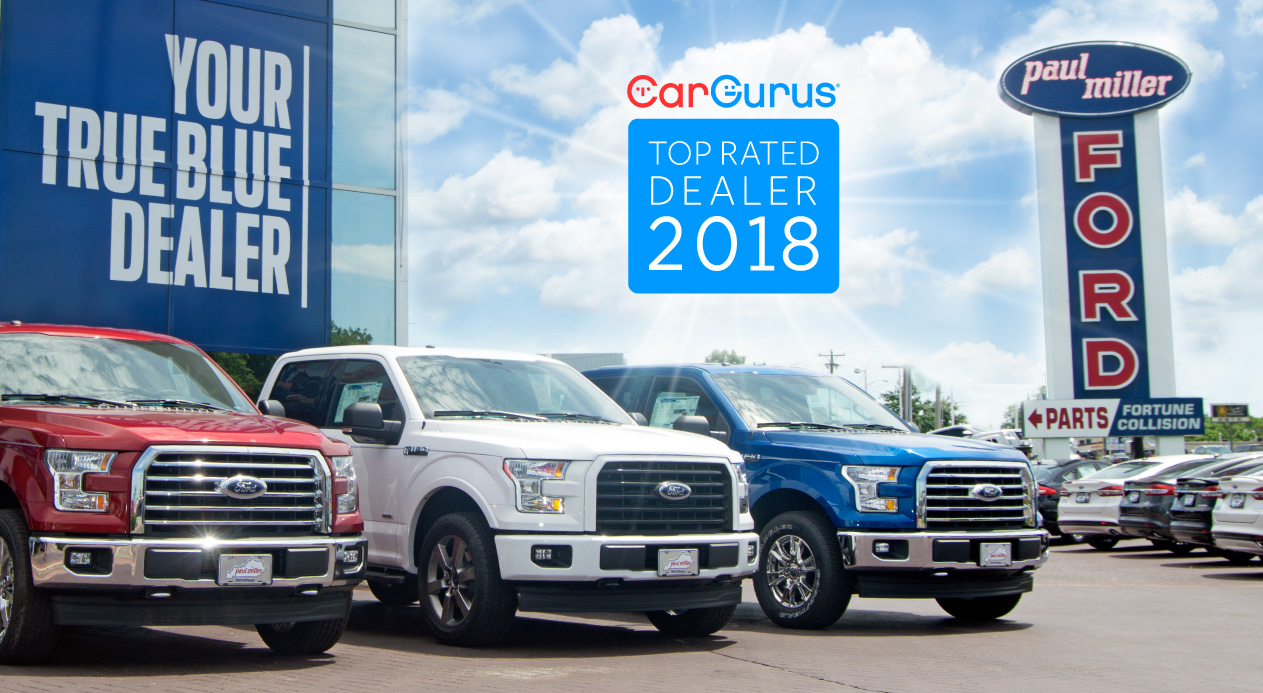 Car Gurus Dealer >> Paul Miller Ford Named A 2018 Cargurus Top Rated Dealer Paul